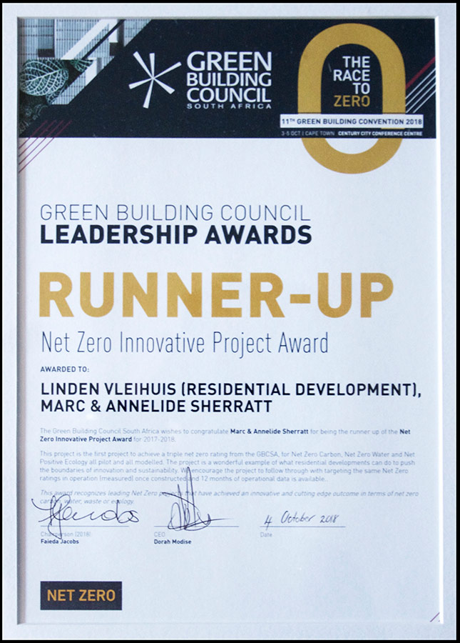 Sustainability architect - Net Zero Project of the Year – runner up