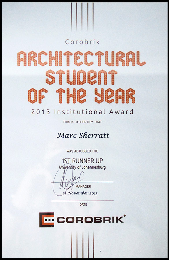 Sustainability architect - architectural student of the year